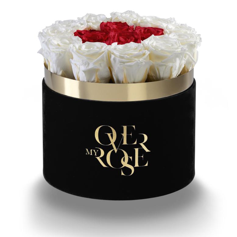 Composizione di rose stabilizzate CE-ROSSO