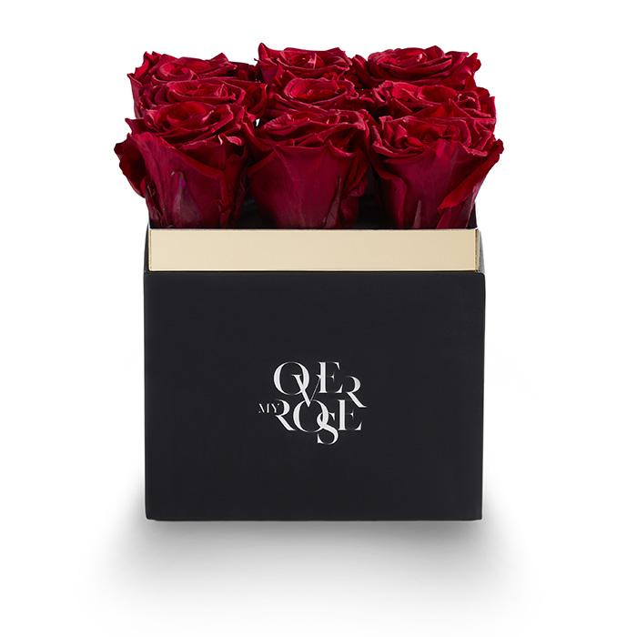 Composizione di rose stabilizzate grande rosso