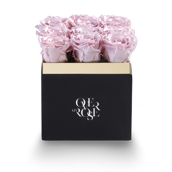 Composizione di rose stabilizzate grande rosa
