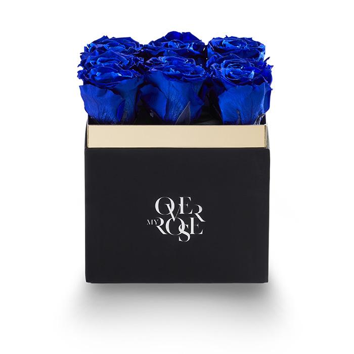 Composizione di rose stabilizzate grande blu