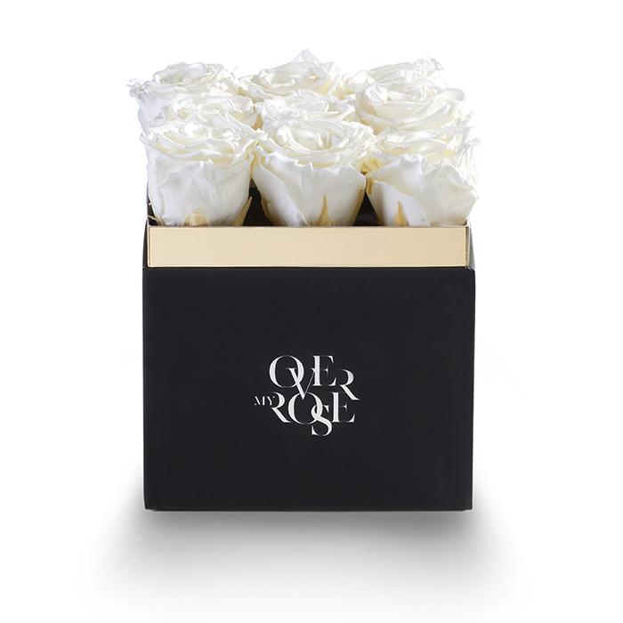 Composizione di rose stabilizzate grande bianco