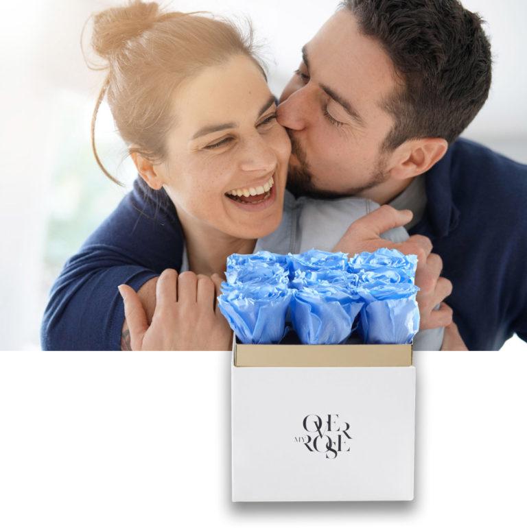 scatole di rose stabilizzate da regalare