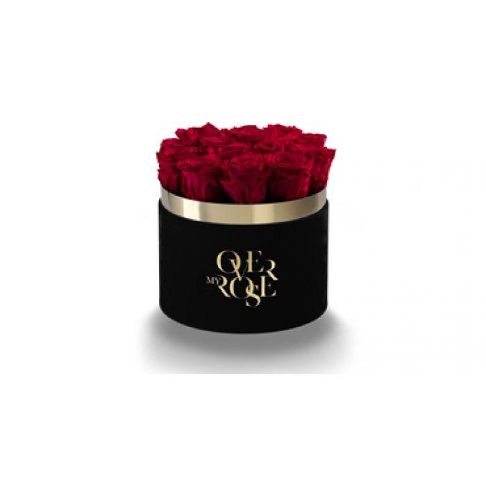 Composizione di rose stabilizzate tinta